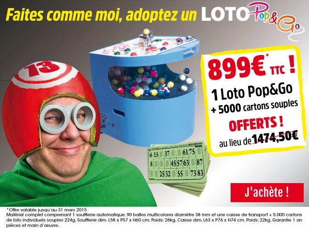 Offre Lotoquine Loto Pop&Go