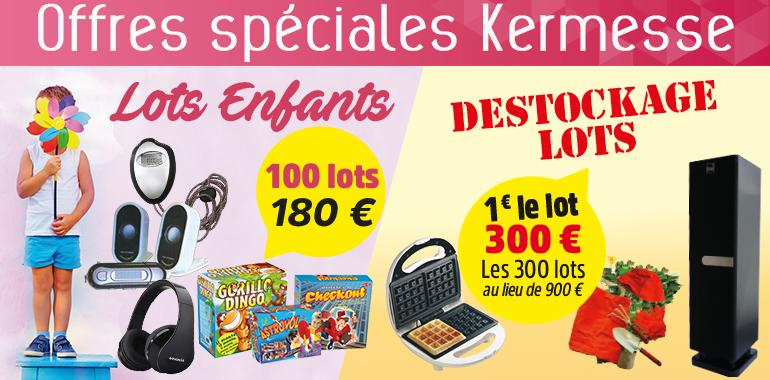 Offres spéciales Kermesse