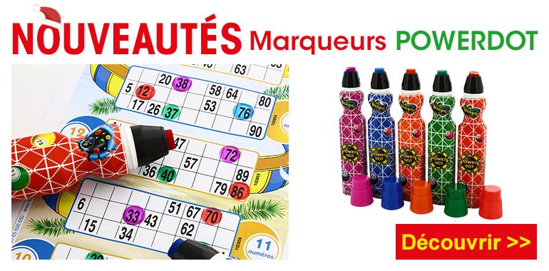 Marqueurs Powerdot Lotoquine