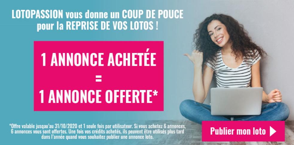 Offre de rentrée : 1 Annonce Achetée = 1 Annonce Offerte !!!