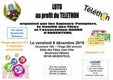 Affiche Loto Téléthon 2019 Pompiers d'Argenteuil